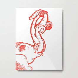 Octophant Metal Print