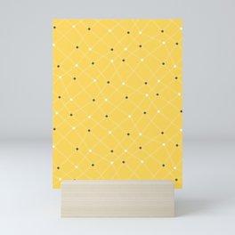 Chemistry Class Doodles - Yellow Mini Art Print