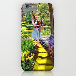 Follow the yellow brick road iPhone Case