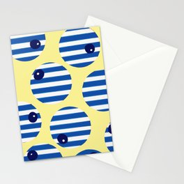snooker balls in blue Stationery Cards