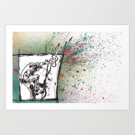 Been Steppin' on the Devil's Tail.... Art Print