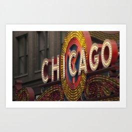 Chicago Theatre Sign Art Print