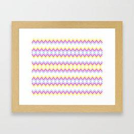 Sweet Color Pattern Framed Art Print