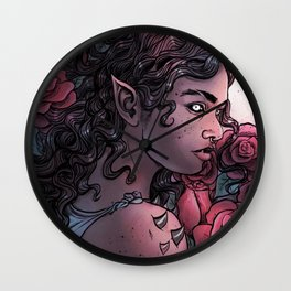 Rose Faery Wall Clock