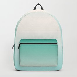 Turquoise and white Ombre Backpack