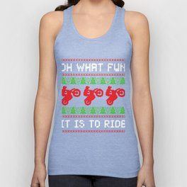 What Fun Is To Ride Motorcycle Ugly Christmas Biker Gift Unisex Tank Top