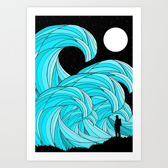 The Waves Art Print