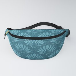 Art Nouveau,Teal,metallic,art deco, fan pattern,chic,vintage,victorian,belle epoque,trendy,modern,elegant Fanny Pack