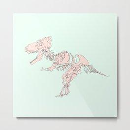 Pastel T rex Metal Print