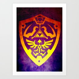Zelda Shield II Art Print