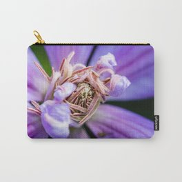 Closeup of a blooming purple clematis flower Carry-All Pouch