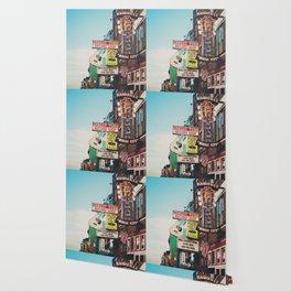 Lower Broadway, Nashville print  Wallpaper