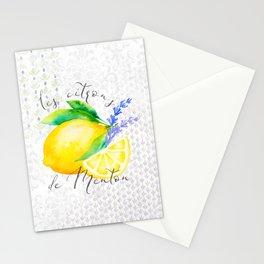 Les Citrons de Menton—Lemons from Menton, Côte d'Azur Stationery Cards