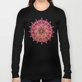 Mandala – Pink Ombré Long Sleeve T-shirt
