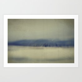 Mountain waves Art Print