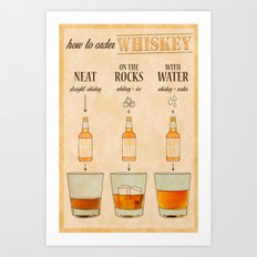 HOW TO: Order Whiskey  Art Print