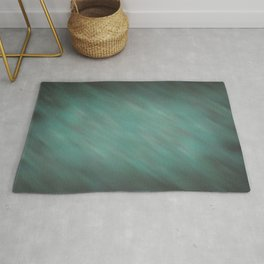 Abstract Soft Watercolor Gradient Ombre Blend 13 Teal, Blue, Green, and Black Rug