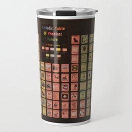 Periodic Table of Phobias Travel Mug