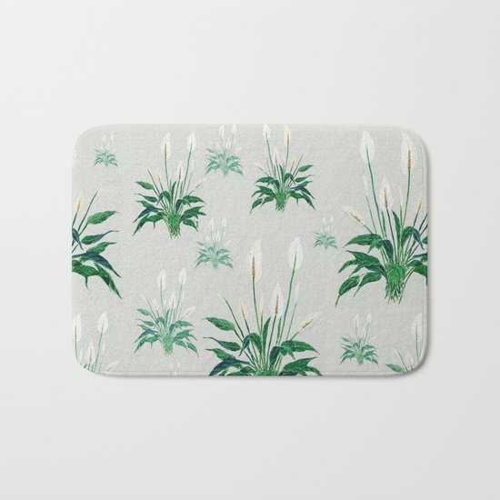 peace lily painting Bath Mat