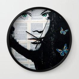 Yekaterina with butterflies Wall Clock