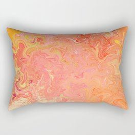 Swirling Warm Paint Colors Rectangular Pillow