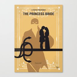 No877 My The princess bride minimal movie poster Canvas Print