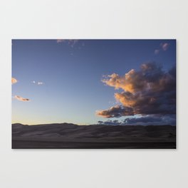 Sunset over the Dunes Canvas Print