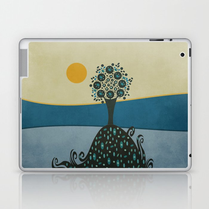 Lone tree in the hills Laptop & iPad Skin