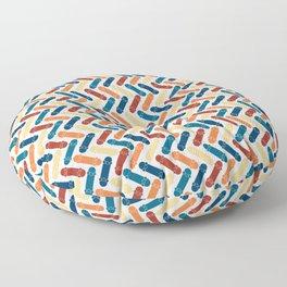 Skateboard Color Pattern Floor Pillow