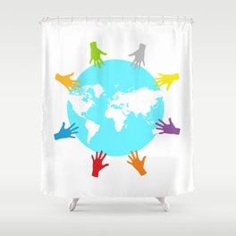 Members and Missionaries Shower Curtain