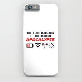 The Four Horsemen Of The Modern Apocalypse iPhone Case