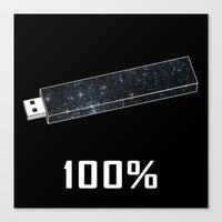 the 100 Canvas Prints featuring 100% by Thecansone