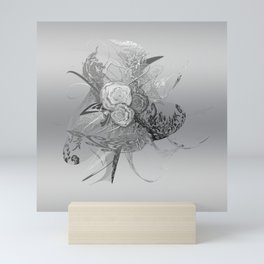 50 Shades of lace Silver Silver Mini Art Print