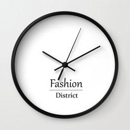 Fashion City: Fashion District Wall Clock