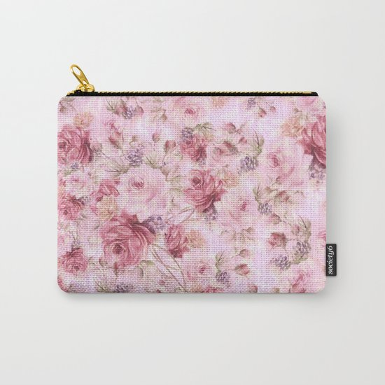 romantic pink roses Carry-All Pouch