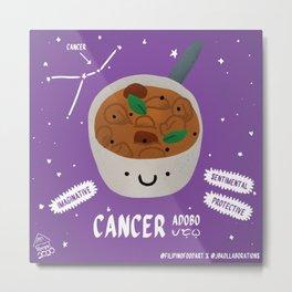 Filipino Food Zodiac: Cancer Adobo Metal Print