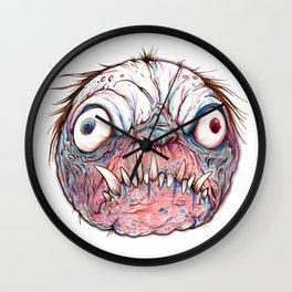 Rotten Head - Blue Nibbler Wall Clock