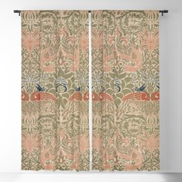 Peacock and Dragon (1878) by William Morris Blackout Curtain