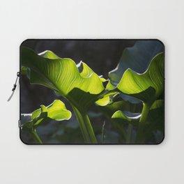 Green Contrast - Light and Dark Laptop Sleeve