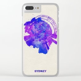 Sydney, Australia Colorful Skyround / Skyline Watercolor Painting Clear iPhone Case
