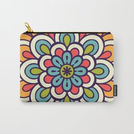 Mandala, Colorful Abstract Flower Carry-All Pouch