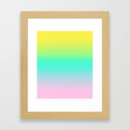 Trendy Bright Candy Gradient Framed Art Print