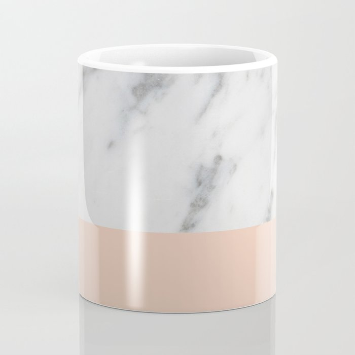 Marble and Blush Pink Coffee Mug