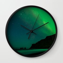 Night with the Northern Lights Wall Clock