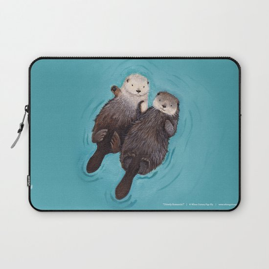 Otterly Romantic - Otters Holding Hands by whenguineapigsfly
