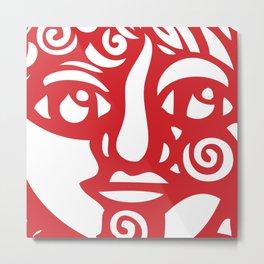 Cara Roja Metal Print