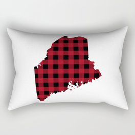 Maine - Buffalo Plaid Rectangular Pillow