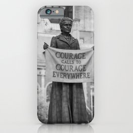 Courage calls to Courage Everywhere memorial black and white photography - black and white photographs iPhone Case