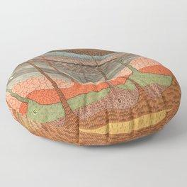 Geology Chart Floor Pillow