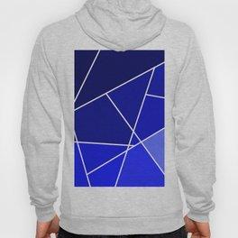Blue Line Pattern Hoody